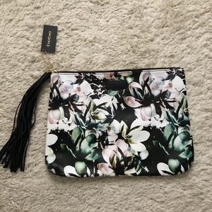 BEBE Magnolia Frost Clutch Pouch